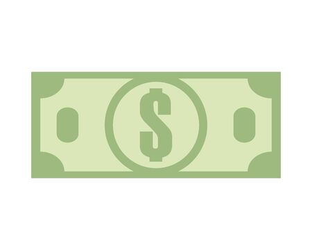 bill money dollar isolated icon vector illustration design Illustration