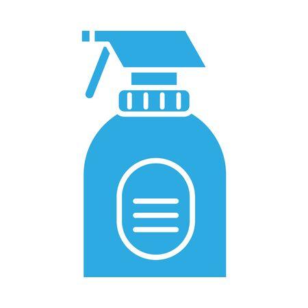 disinfectant spray bottle product line style vector illustration design