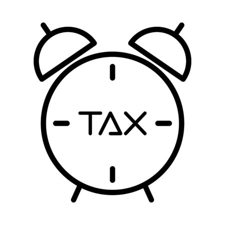 tax obligation with alarm clock vector illustration design