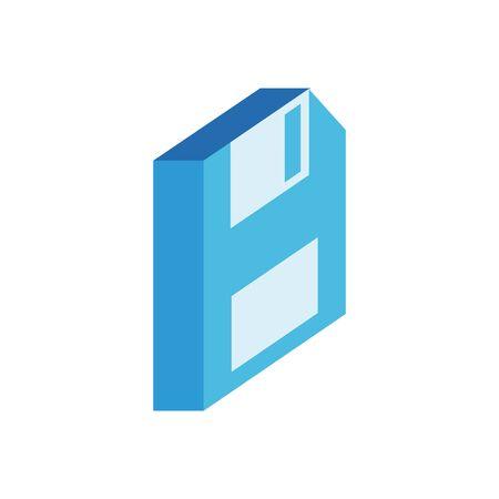 floppy disk isometric style icon vector illustration design