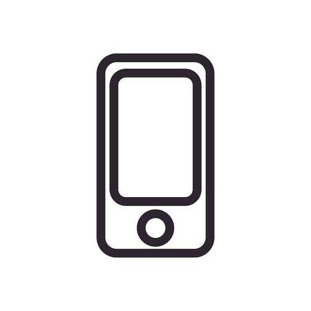 smartphone device line style icon vector illustration design 向量圖像