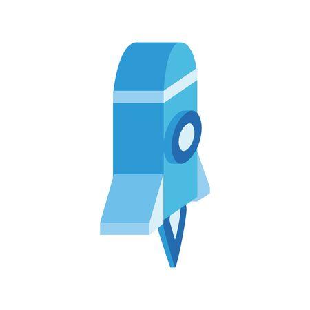 rocket launcher isometric style icon vector illustration design 向量圖像