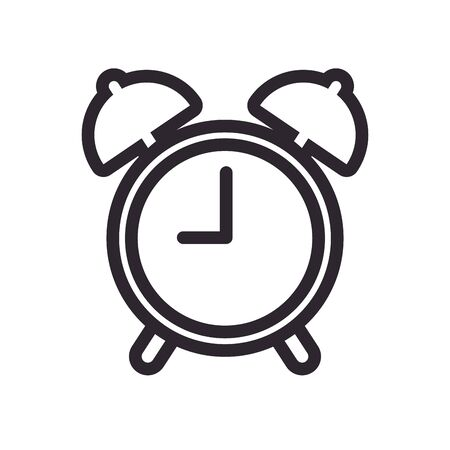 alarm clock line style icon vector illustration design