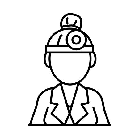 doctor woman professional line style vector illustration design