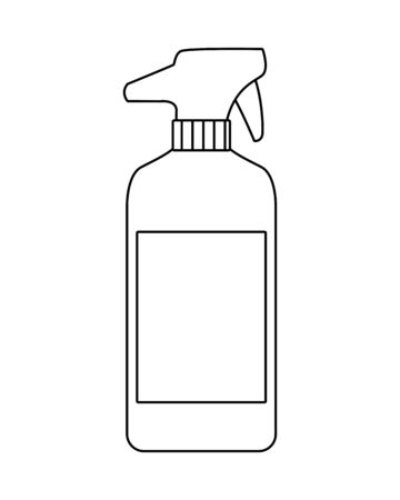 splash bottle product cleaner icon vector illustration design