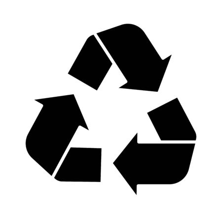 arrows recycle symbol ecology flat style icon vector illustration design