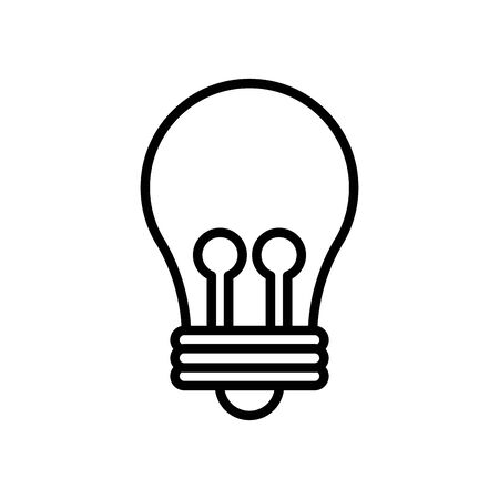 bulb light line style icon vector illustration design