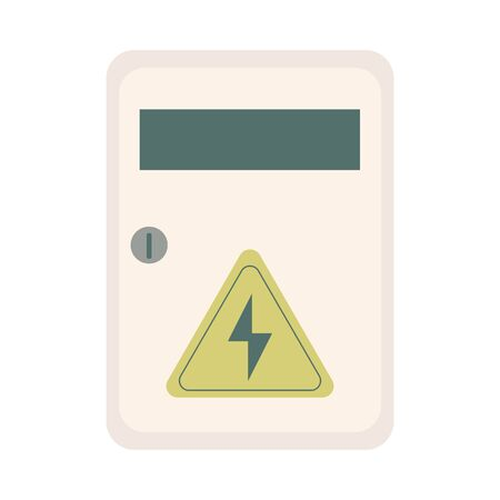 energy triangle label caution icon vector illustration design