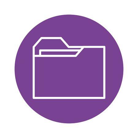 folder file document block style icon vector illustration design