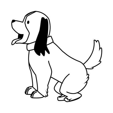 cute little dog mascot character vector illustration design