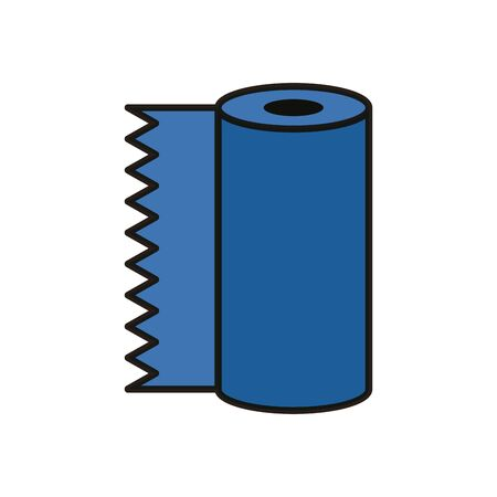 absorbent towels roll flat style icon vector illustration design Vectores