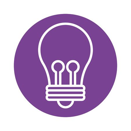 bulb light block style icon vector illustration design