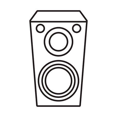 speaker sound audio device icon vector illustration design