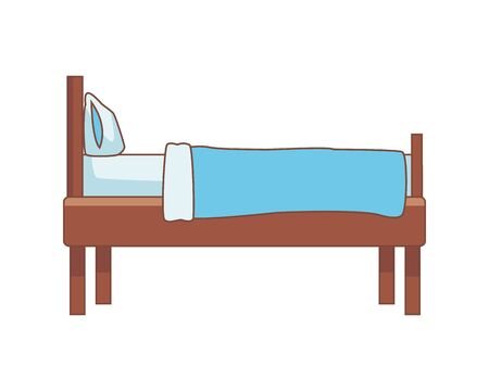 bed home forniture isolated icon vector illustration design 向量圖像