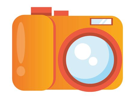 camera photographic user interface icon vector illustration design
