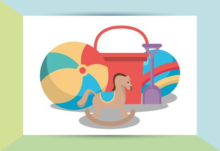 set toys baby isolated icons vector illustration design