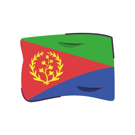 eritrea flag country isolated icon vector illustration design