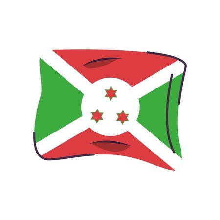 burundi flag country isolated icon vector illustration design
