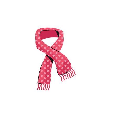 scarf cold fashion accessory isolated icon vector illustration design