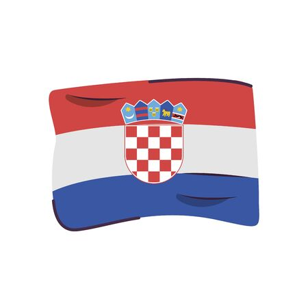 croatia flag country isolated icon vector illustration design