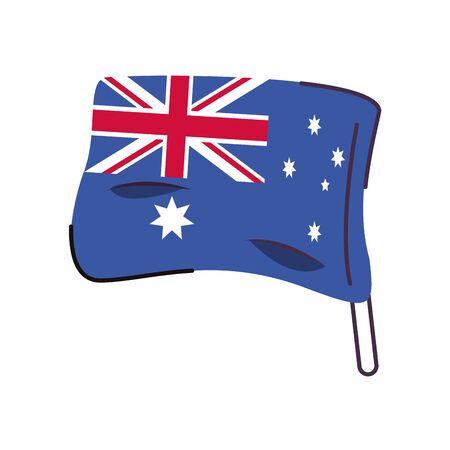 australia flag country isolated icon vector illustration design 向量圖像