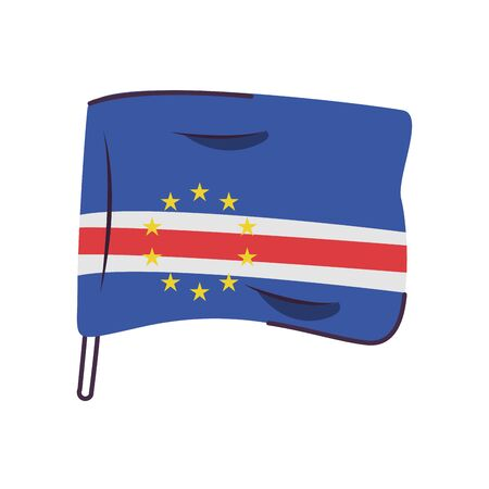 cape verde islands flag country isolated icon vector illustration design
