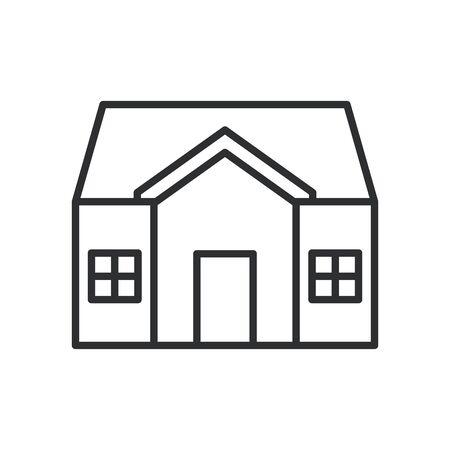 house facade line style icon vector illustration design