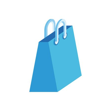 shopping bag paper isometric icon vector illustration design