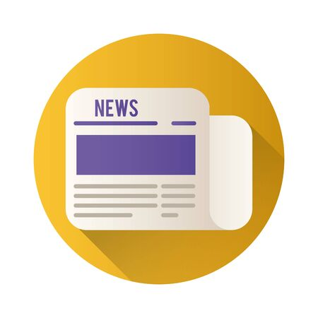 news paper block style icon vector illustration design