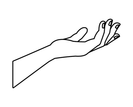 hand human receiving isolated icon illustration design