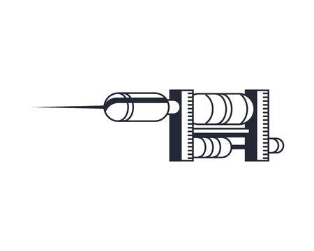 tattoo classic machine isolated icon illustration design