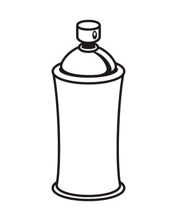 spray paint bottle isolated icon illustration design