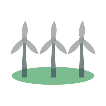 windmill energy environmental isolated icon illustration design
