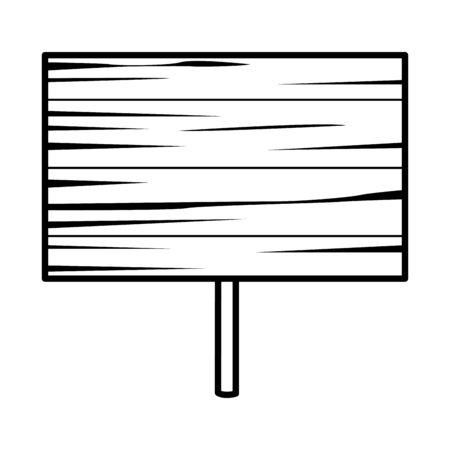 wooden label signal isolated icon illustration design Stockfoto - 144390744