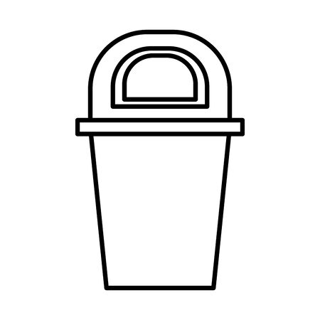 waste bin recycle isolated icon illustration design