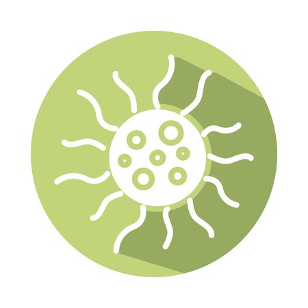 spore bacterium block style icon vector illustration design Vector Illustratie