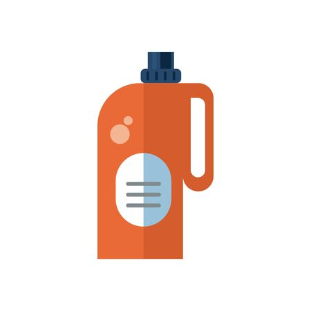 disinfectant plastic bottle product with drop flat style vector illustration