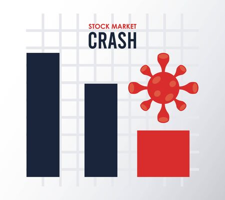 stock market crash infographic statistical vector illustration design
