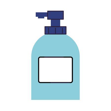 antibacterial soap bottle isolated icon vector illustration design Vettoriali