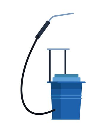 sprayer disinfect back isolated icon vector illustration design