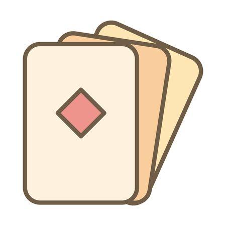 poker diamond cards block style icon vector illustration design Illustration
