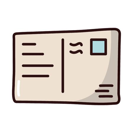postal stamp fill style icon vector illustration design