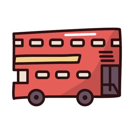 bus public transport fill style icon vector illustration design