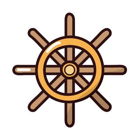 helm ship fill style icon vector illustration design Ilustração