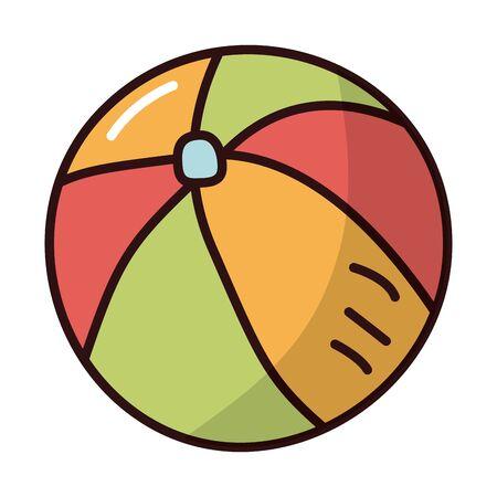 plastic balloon fill style icon vector illustration design