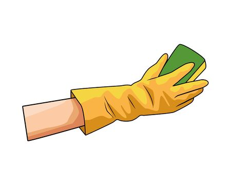 hand with dish foam icon vector illustration design