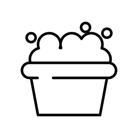 bowl with foam line style icon vector illustration design