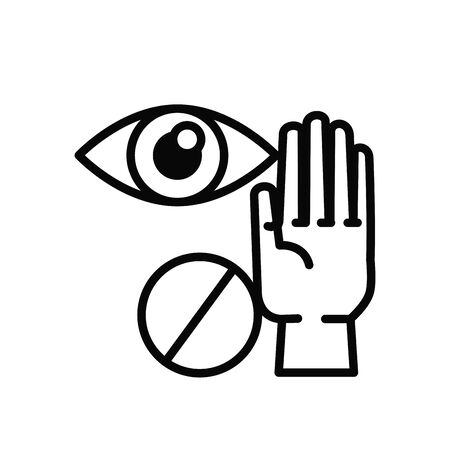 dont touch eyes line style icon vector illustration design