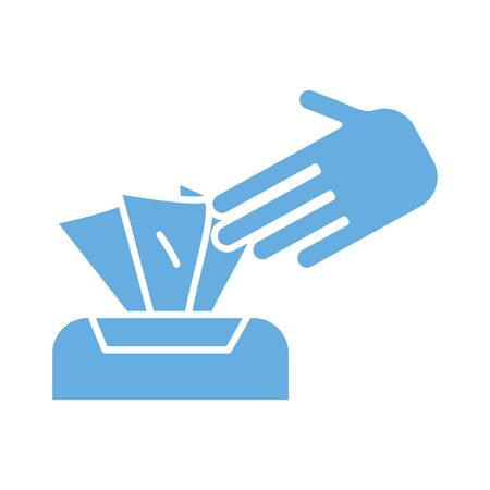 damp cloths box line style icon vector illustration design 矢量图像