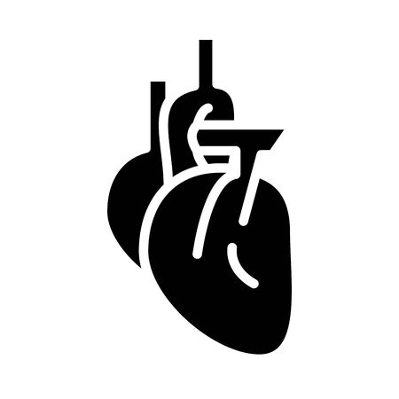 heart human organ silhouette style icon vector illustration design